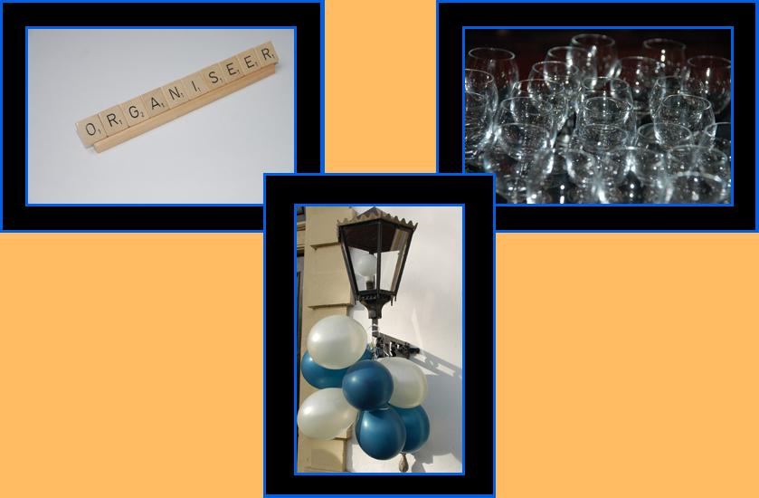 organiseer, scrabble, balonnen, glaasjes, evenementenorganisatie, organisatie, event, evenement